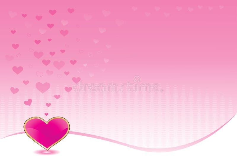 背景发光重点的粉红色 皇族释放例证
