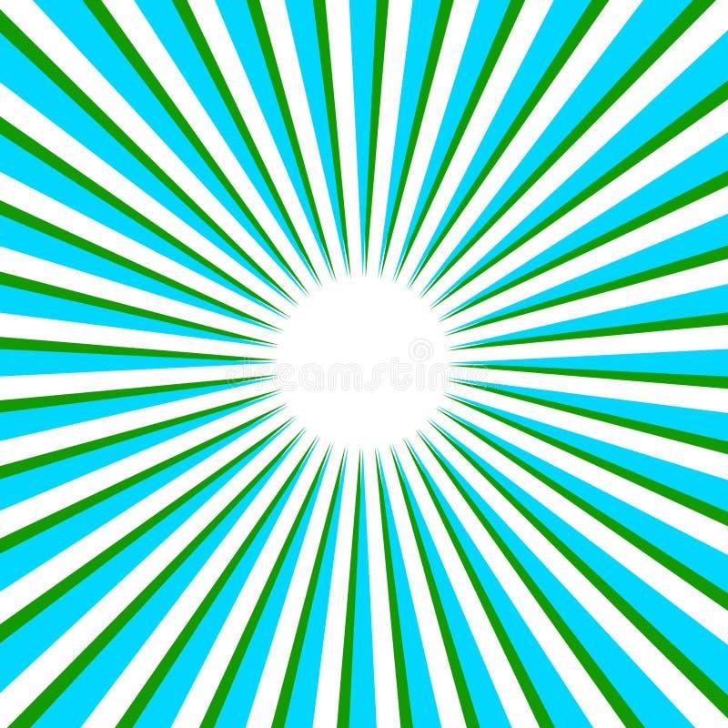 背景发出光线向量 库存例证
