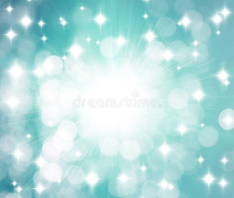 背景发出光线星形 图库摄影