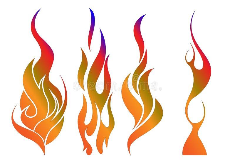 背景发火焰美妙的墙壁 库存例证