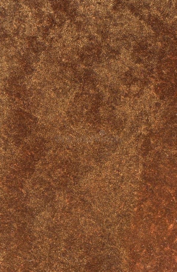 背景古铜色棕色天鹅绒 库存图片