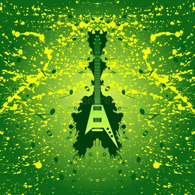 背景吉他音乐岩石 库存例证
