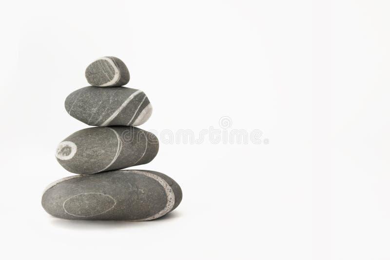 背景向白色扔石头 免版税库存图片