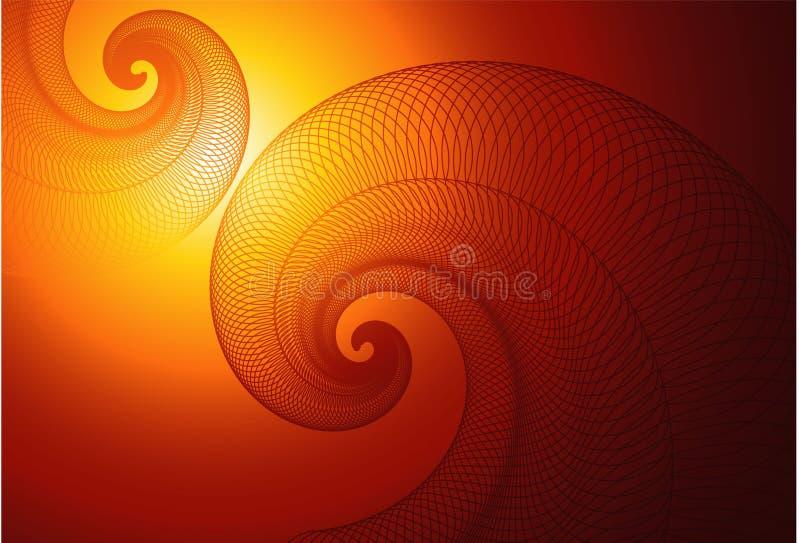 背景向量漩涡 向量例证