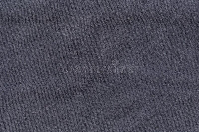 背景和设计的灰色毛巾纹理 免版税图库摄影