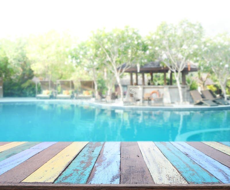 背景和水池木台式  库存照片