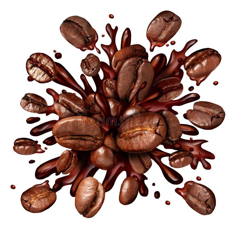 背景咖啡倾吐的飞溅白色 皇族释放例证