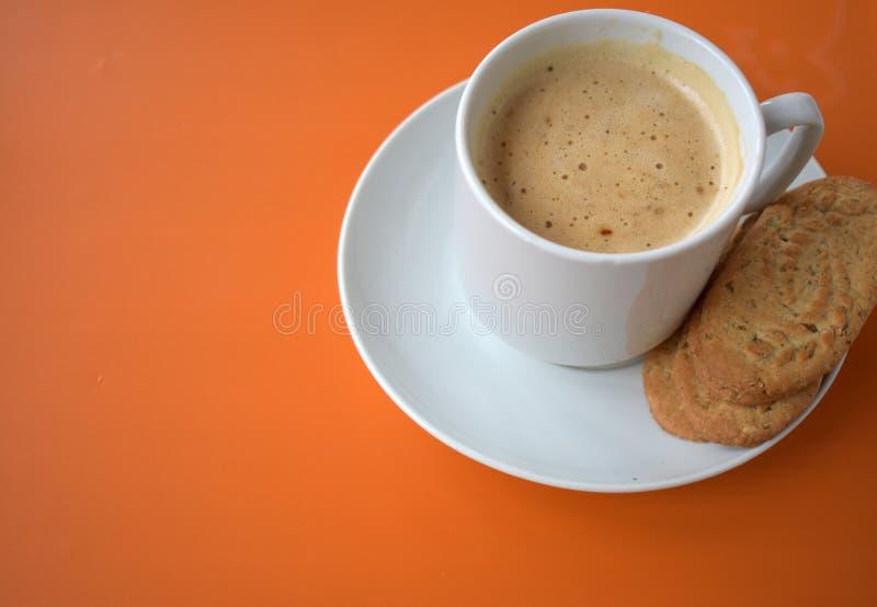 背景咖啡杯eps10桔子向量 库存图片