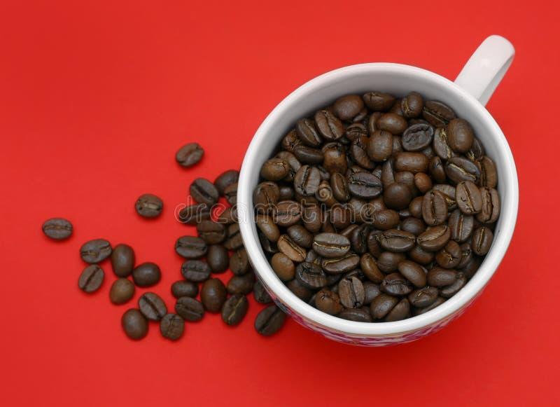 背景咖啡红色 库存照片