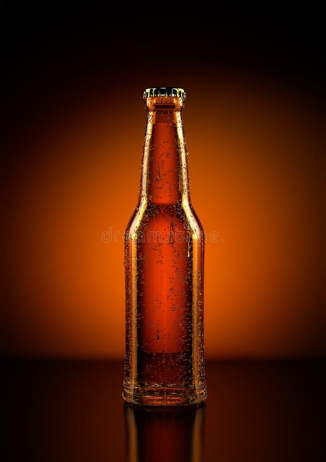 背景啤酒瓶例证桔子向量 图库摄影