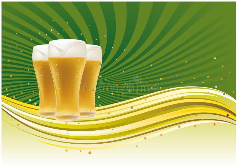 背景啤酒 皇族释放例证