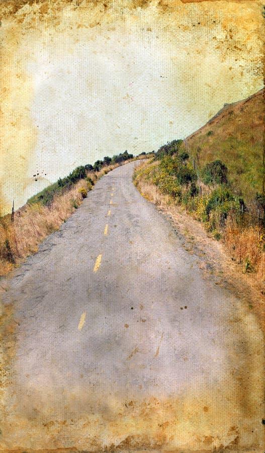 背景国家(地区) grunge路绕 库存照片