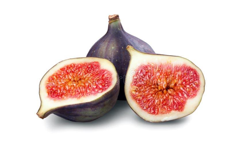 背景图新鲜水果片空白purpled的种子 免版税库存图片