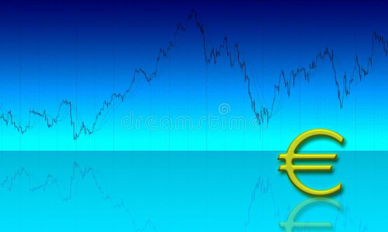 背景图表欧元 库存例证
