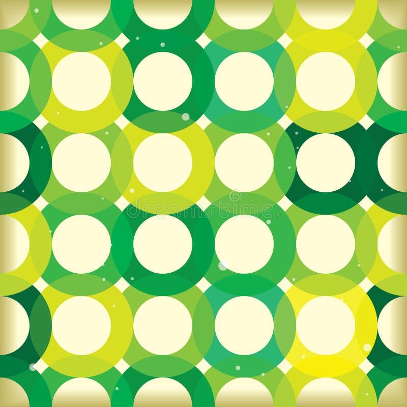 背景圈子绿色连结 库存例证