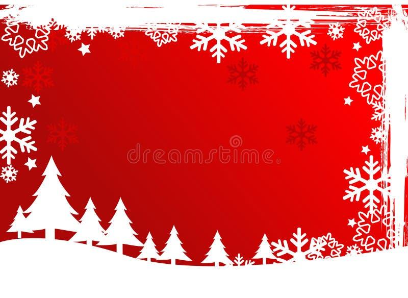 背景圣诞树向量 皇族释放例证