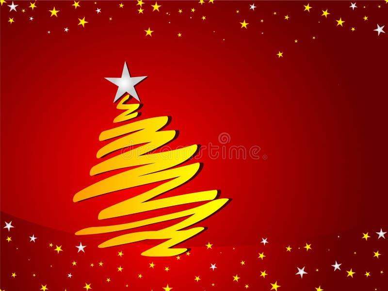 背景圣诞树 库存例证