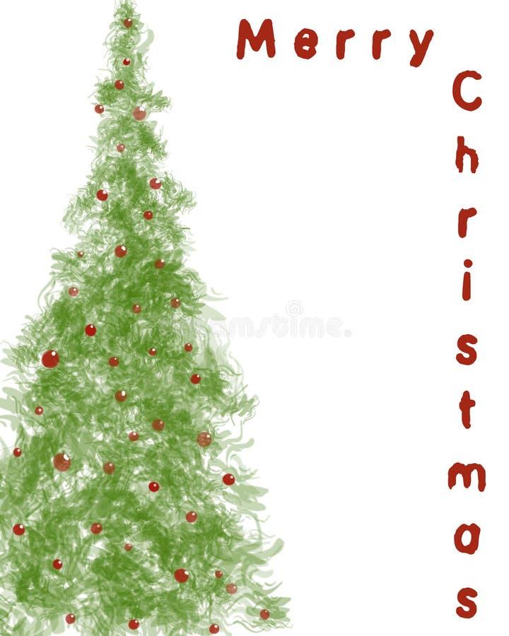 背景圣诞树 免版税库存照片