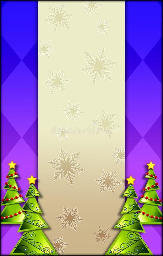 背景圣诞树 皇族释放例证