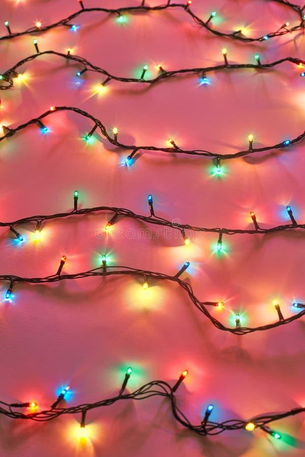 背景圣诞节五颜六色的光 库存图片