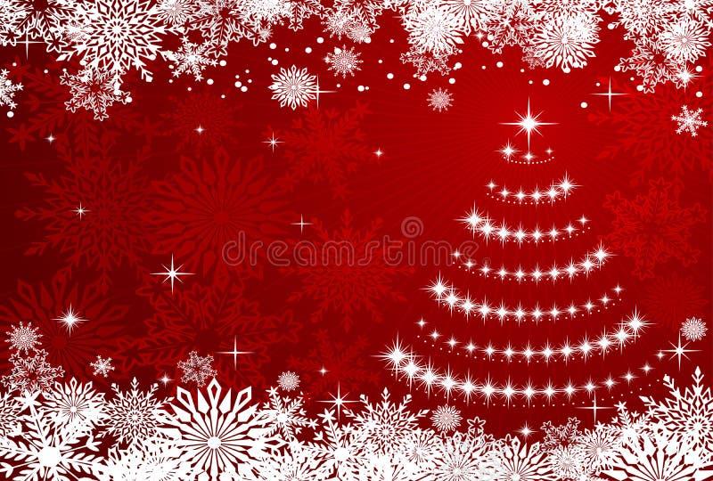 背景圣诞节冬天 库存例证