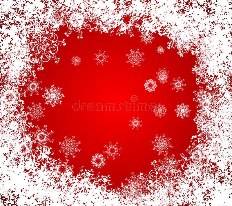背景圣诞节冻结的grunge向量视窗 皇族释放例证