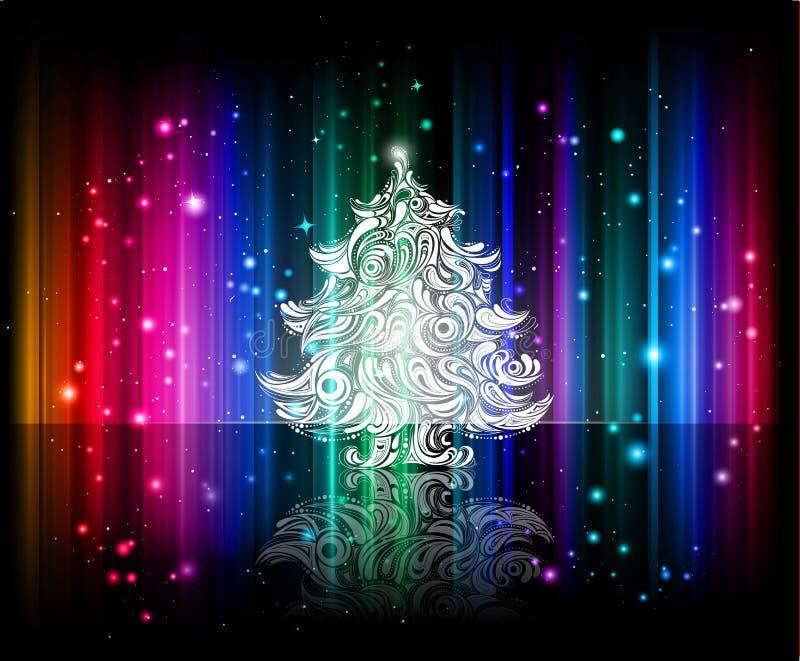 背景圣诞节发光的向量 皇族释放例证