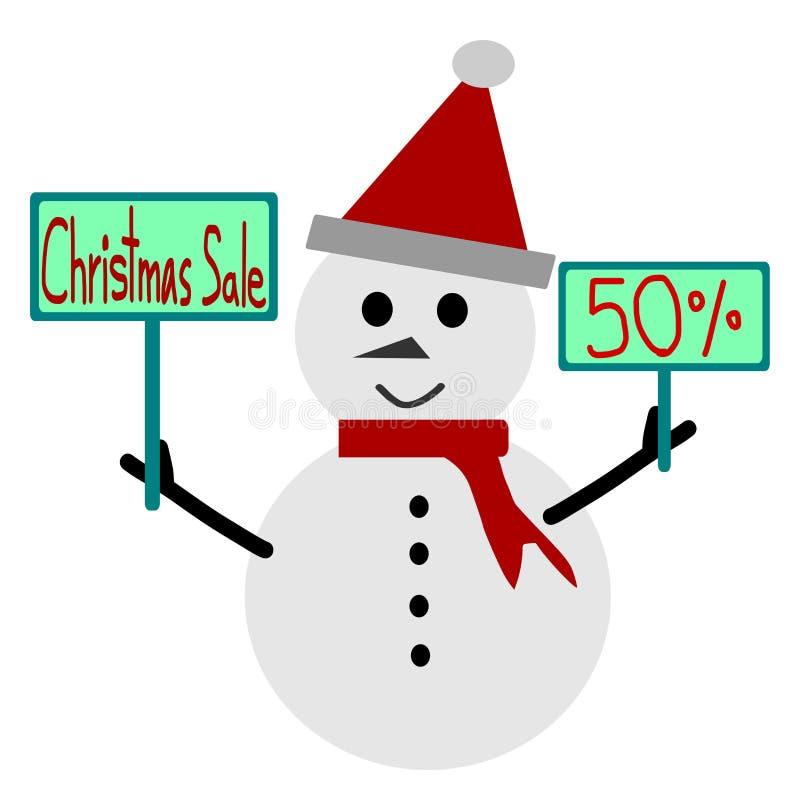 背景圣诞节女孩愉快的销售额购物白色 库存例证