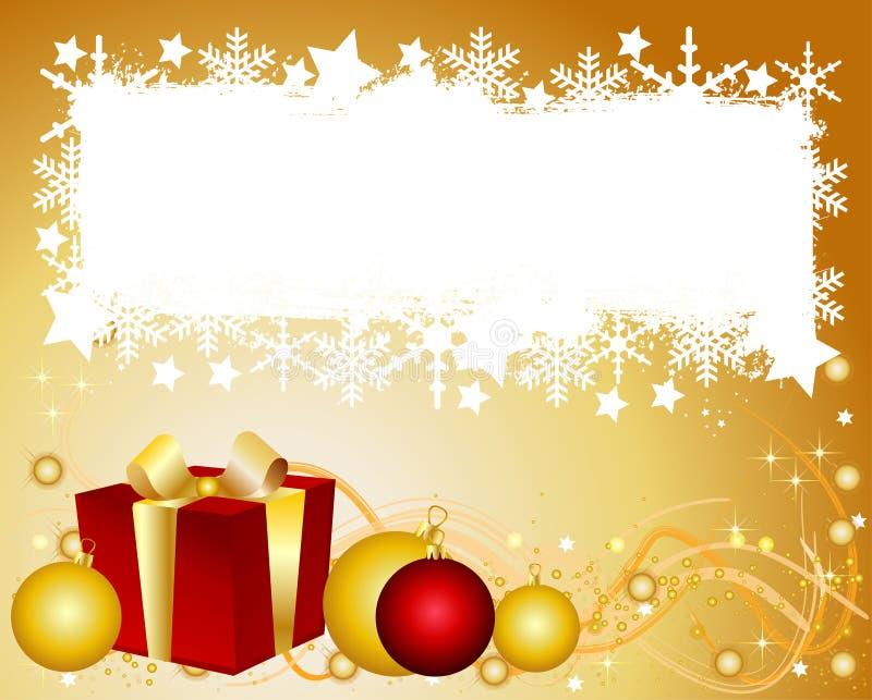 背景圣诞节您空间的文本 库存例证