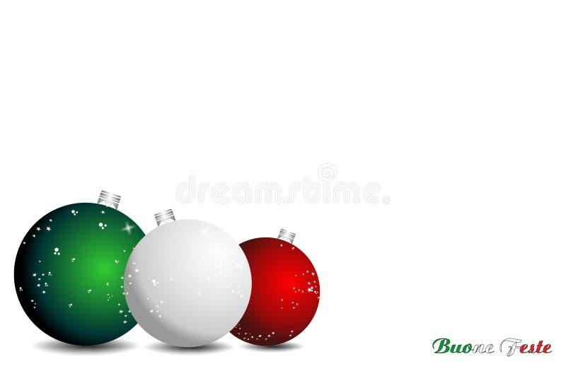 背景圣诞节意大利语 库存例证