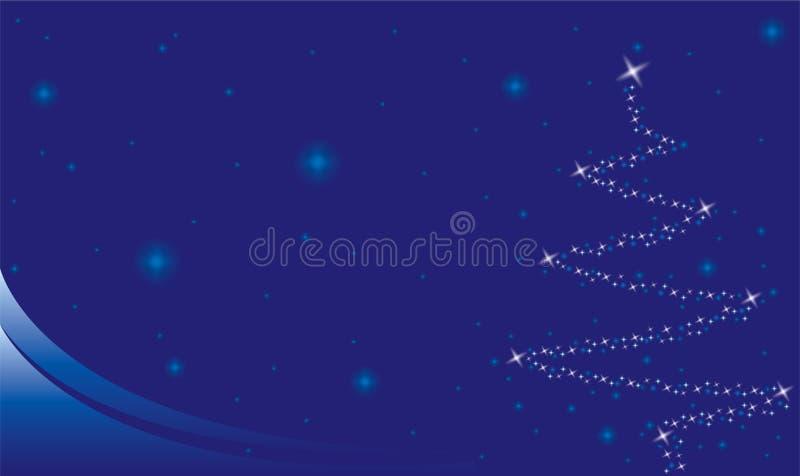 背景圣诞节星形 向量例证