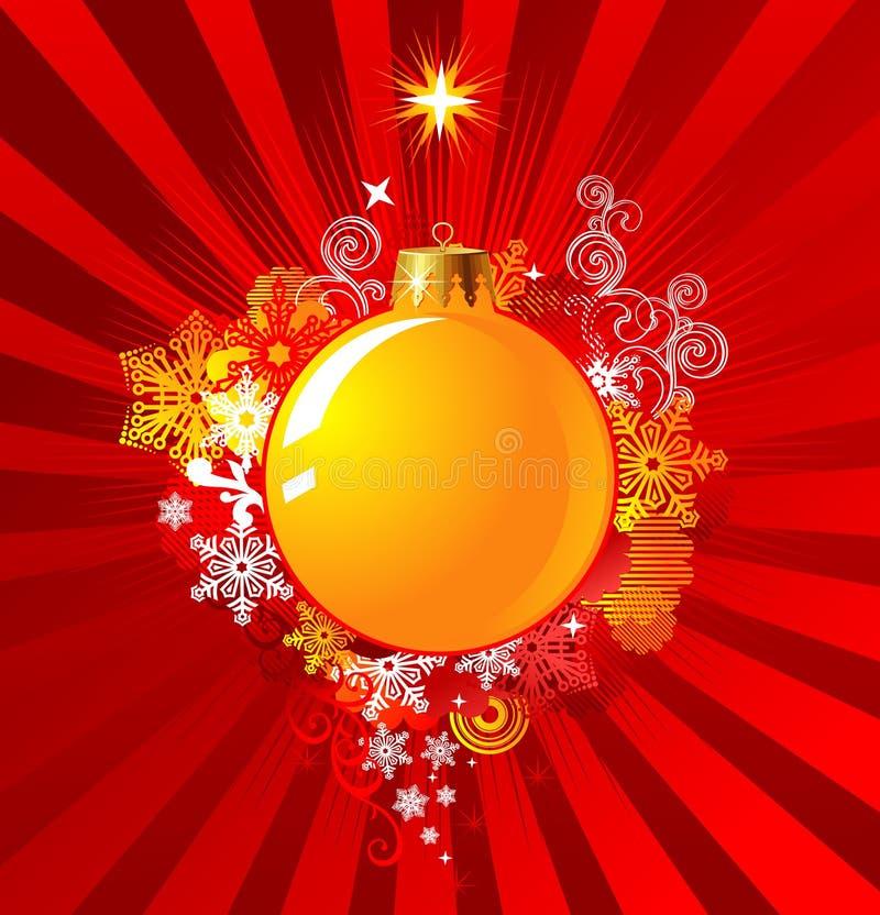 背景圣诞节概念装饰向量 库存例证