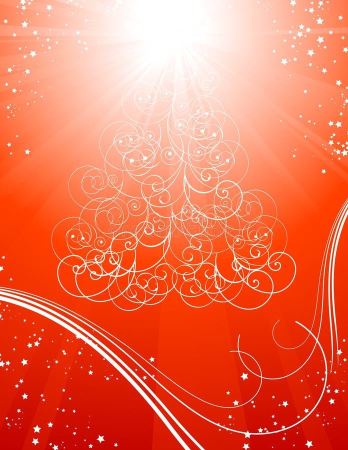 背景圣诞节红色担任主角结构树 向量例证