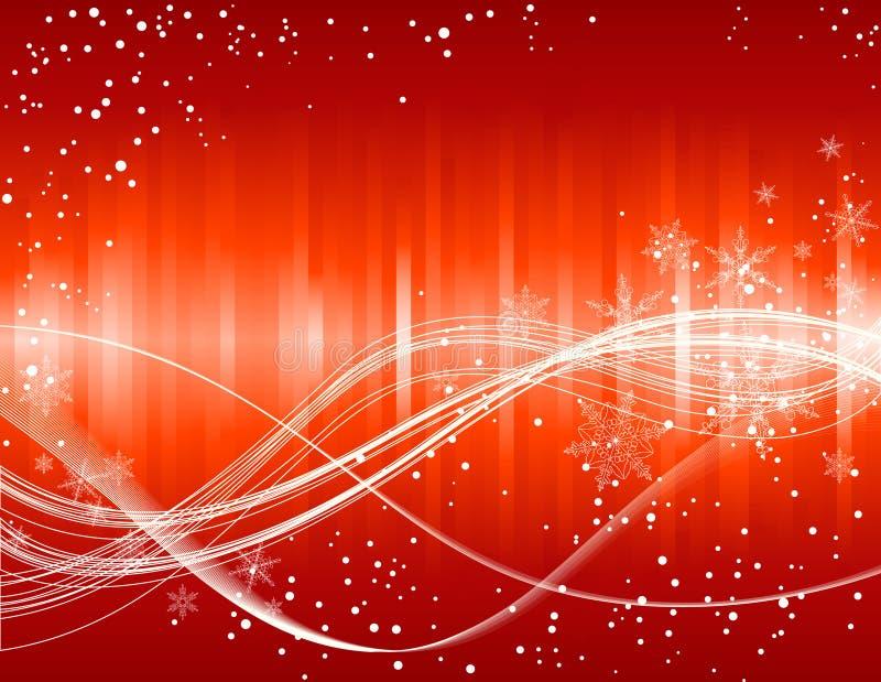 背景圣诞节红色雪花 皇族释放例证