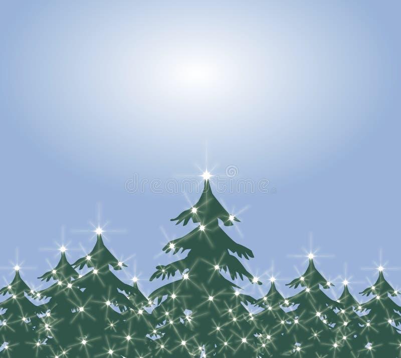 背景圣诞节绿色结构树 库存例证