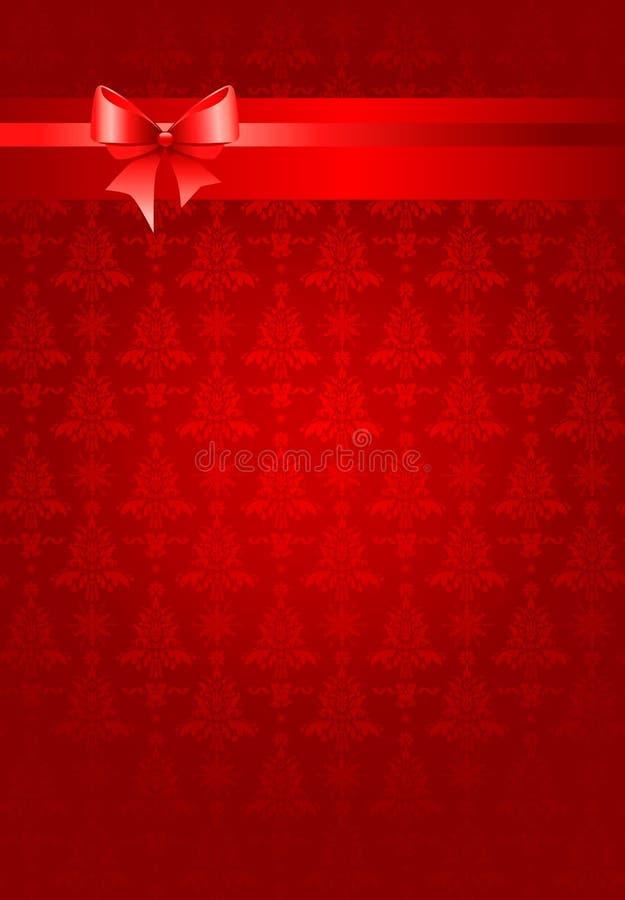 背景圣诞节节假日红色丝带 皇族释放例证