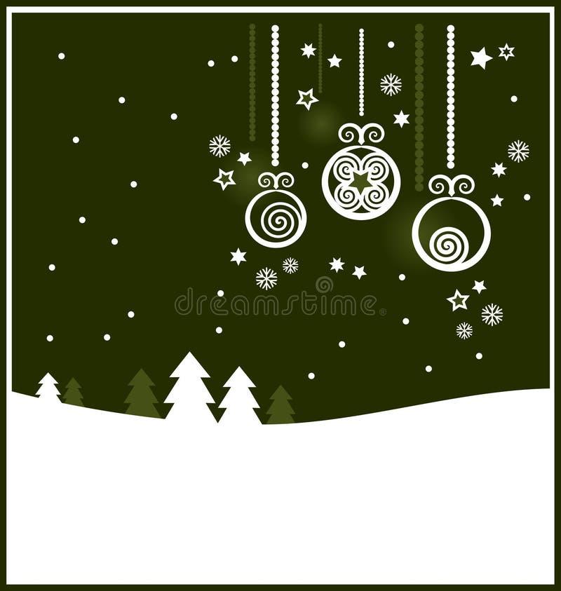 背景圣诞节装饰品 向量例证