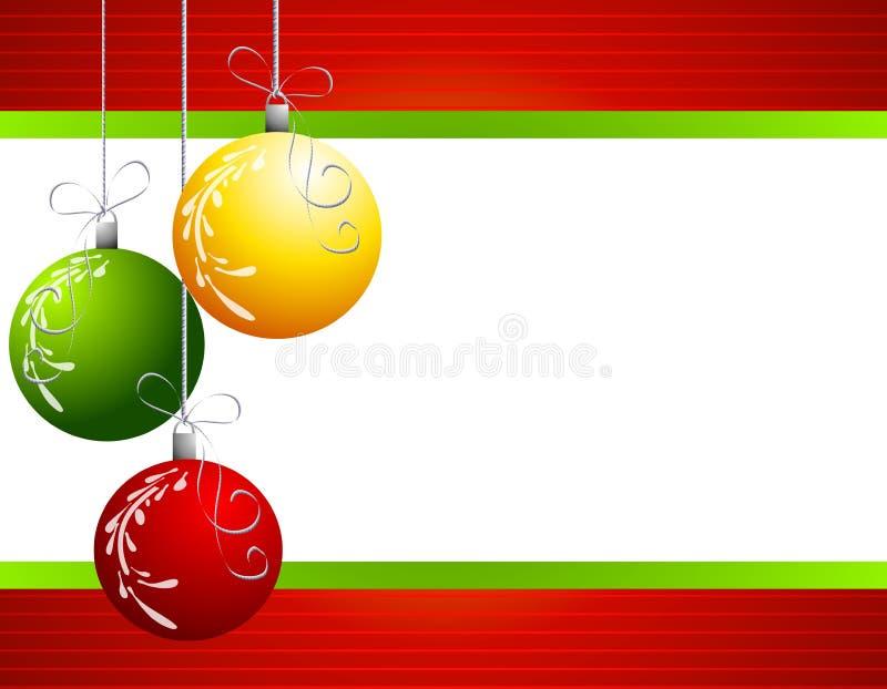 背景圣诞节装饰红色 皇族释放例证