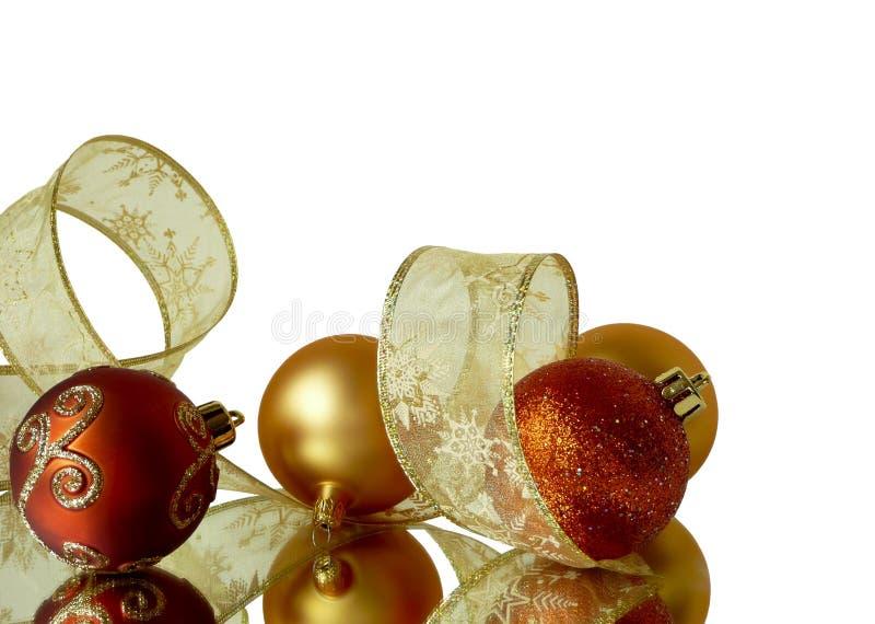 背景圣诞节角落 免版税库存图片