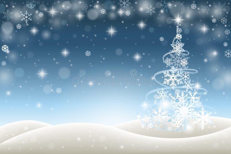 背景圣诞节设计例证冬天 库存例证
