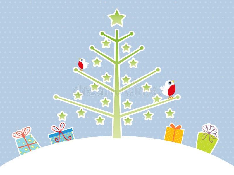 背景圣诞节逗人喜爱的结构树 皇族释放例证
