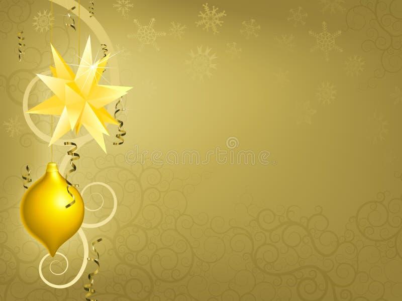 背景圣诞节金装饰品 向量例证