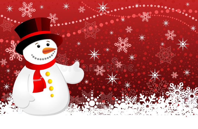 背景圣诞节雪花雪人 皇族释放例证