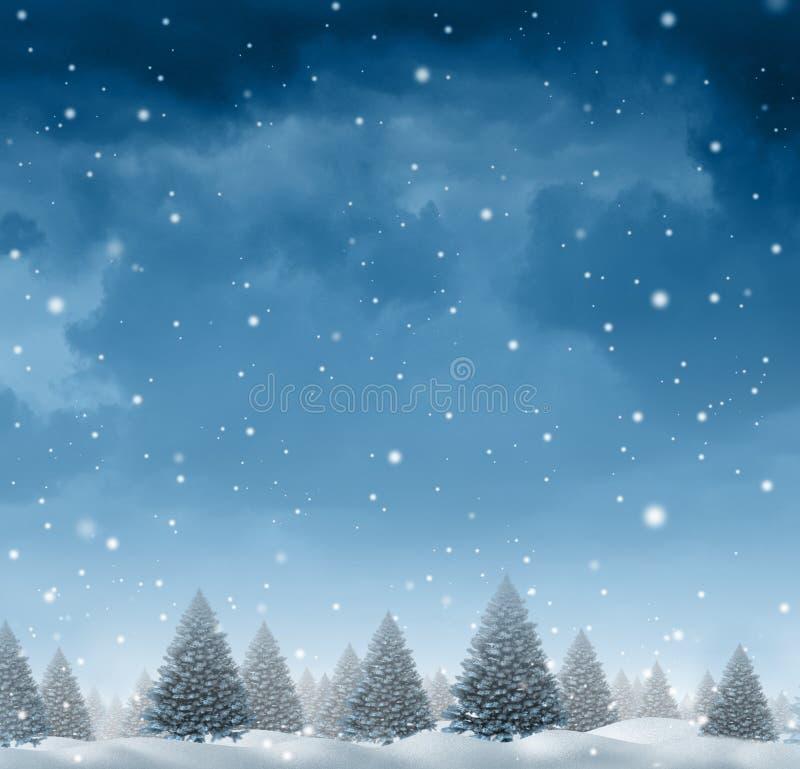 背景圣诞节雪雪花冬天 库存例证