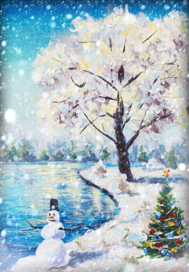 背景圣诞节雪雪花冬天 E 向量例证