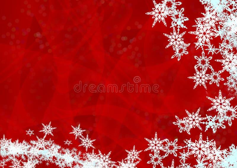 背景圣诞节雪 库存例证