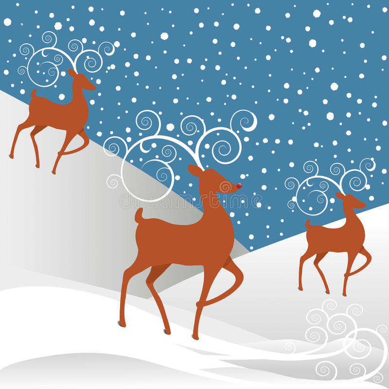 背景圣诞节驯鹿鲁道夫 库存例证
