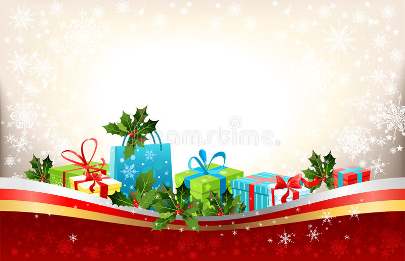 Download 背景圣诞节 向量例证. 插画 包括有 线路, 复制, 快活, 看板卡, 棚车, 霍莉, 冬天, 节假日, 空间 - 22357472