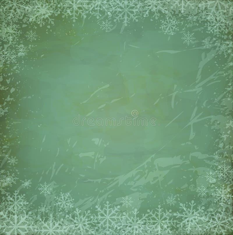 背景圣诞节grunge向量葡萄酒 皇族释放例证