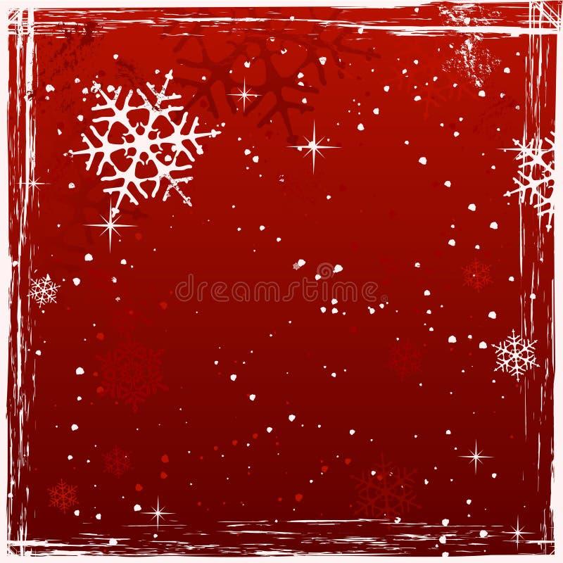 背景圣诞节grunge红场 向量例证